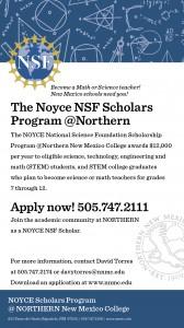 NNMC NOYCE NSF Scholarship Ad