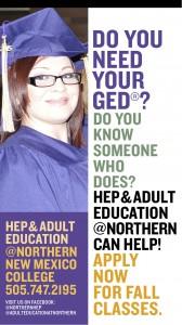 Northern HEP GED ad
