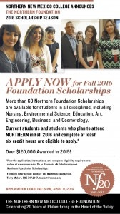 NNMC The Northern Foundation Scholarships Ad 2015