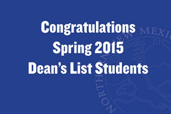 Congratulations Spring 2015 Dean's List Students!