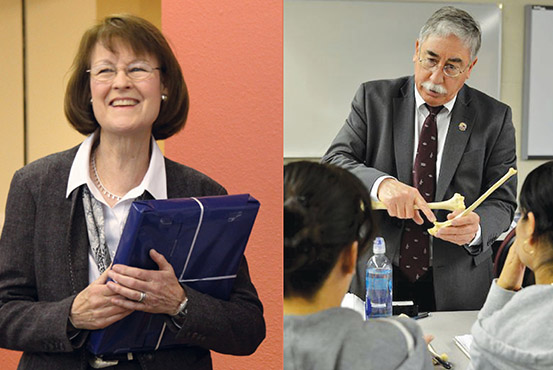 Honoring Faculty: Northern thanks Dr. Anthony Sena and Donna Winchell for years of service