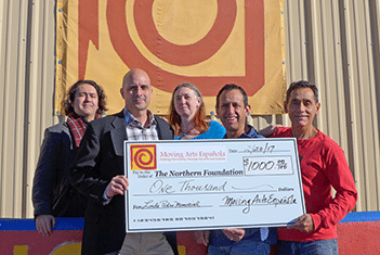 Moving Arts Española Presents $1,000 Check