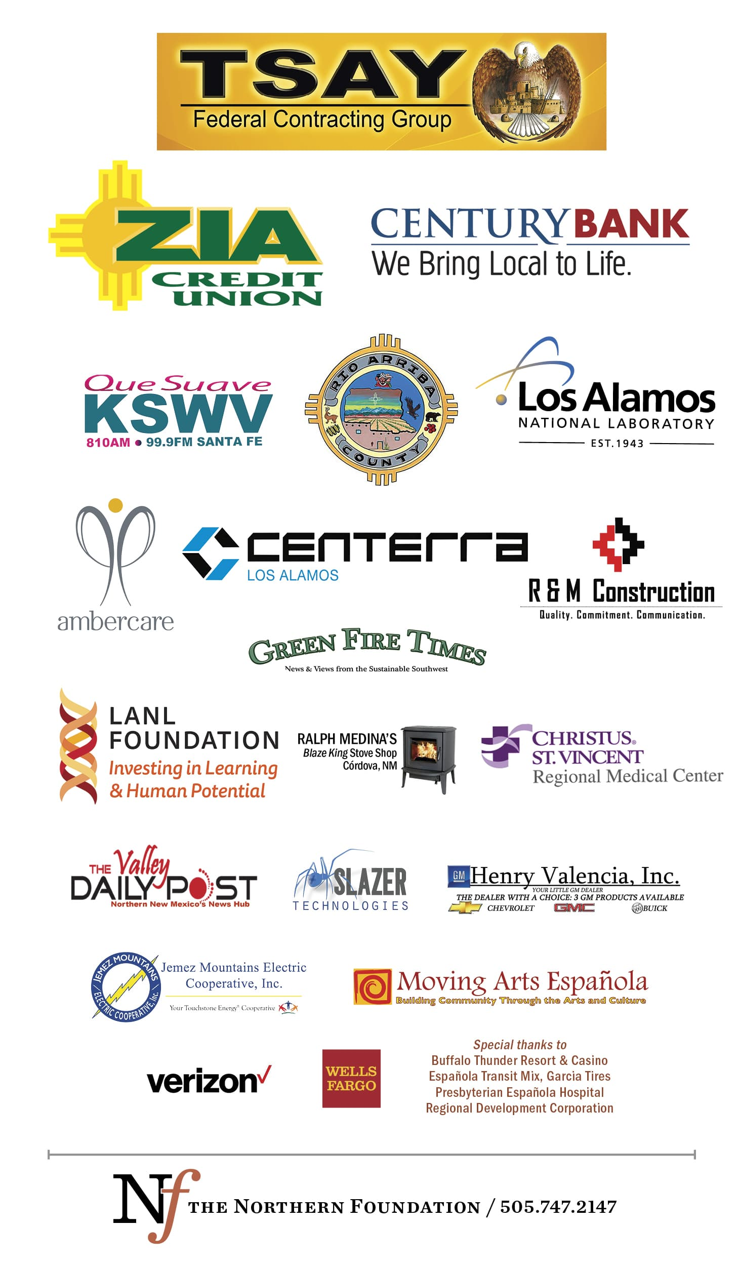 A Special Thank You to Our Partners