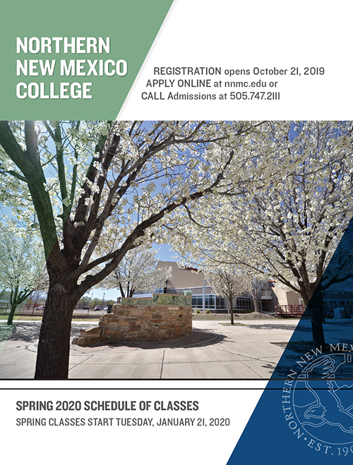 Unm Winter Intersession Courses 2020.Schedule Of Classes Northern New Mexico College