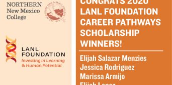 Northern Students Selected for LANL Foundation Career Pathways Scholarship