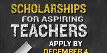 Teacher Education Scholarships Now Available!