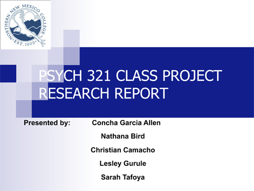 Research Project cover
